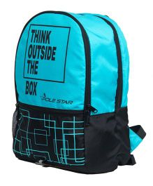 Polestar Back Pack Quote Print Black Blue - 18 Inches
