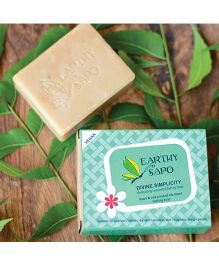 Earthy Sapo Divine Simplicity Moisturizing Unscented Bathing Soap - 100 g