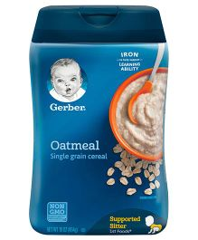 Gerber Oatmeal Single Grain Cereal - 454 gms