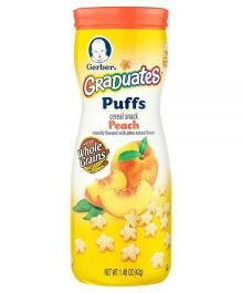 Gerber Peach Puffs - 42 gm