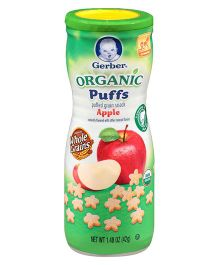 Gerber Organic Apple Puffs - 42 gm