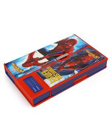 Marvel Spider Man Jumbo Magnetic Pencil Box - Blue Red