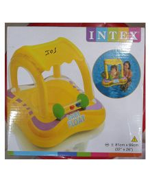 Intex Inflatable Baby Float With Sunshade Canopy - Yellow