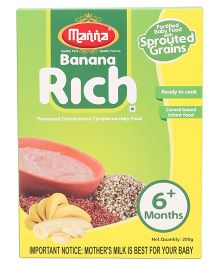 Manna Banana Rich Cereal Based Food - 200 gm