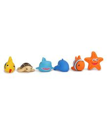 Dr. Toy Baby Bath Toy Pack of 6 - Yellow Blue Orange