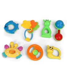 Dr. Toy Baby Rattle Set Pack of 7 - Multi Color