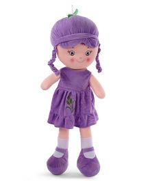 Starwalk Candy Doll With Frock Purple - Height 75 cm