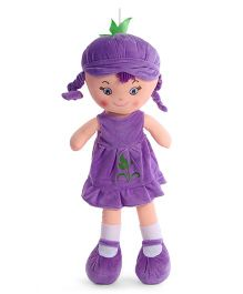 Starwalk Candy Doll With Frock Violet - Height 55 cm