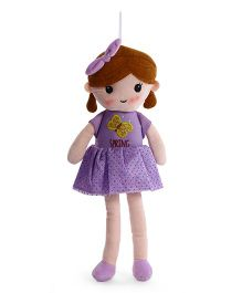 Starwalk Candy Doll With Frock And Bow Purple - Height 45 cm
