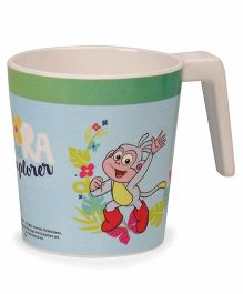 Dora Large Coffee Mug - Off White Green