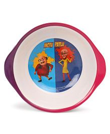 Motu Patlu Bowl With Handle - Multi Colour