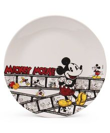 Disney Dinner Plate Mickey Mouse Print - Off White