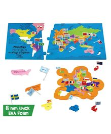 Imagi Make Mapology World With Flags and Capitals Multicolour - 86 pieces (Color May Vary)