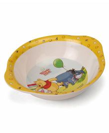 Winnie The Pooh Bowl With Handle Yellow White - 320 ml