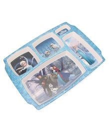 Disney Frozen Partition Plate - Blue White (Color & Print May Vary)