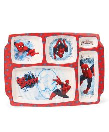 Marvel Spider Man 5 Partition Plate - Red White