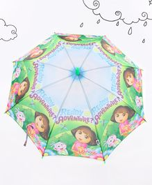 Dora Printed Umbrella - Green Blue