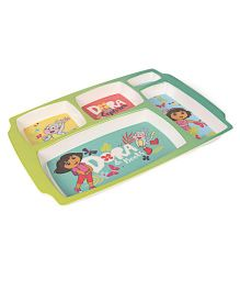 Dora 5 Partition Plate - Green Blue