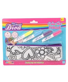 Imagician Playthings DIY Colour Me Purse With Markers - Multicolour