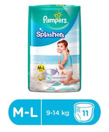 Pampers Splashers Pants Style Disposable Swim Diapers Medium to Large- 11 Pieces