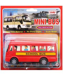 Centy Pull Back Action Bus Toy - Red