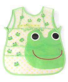 Alpaks Apron With Pocket Froggy Print - Green