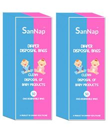 SanNap Baby Diaper Disposal Bags - 100 Pieces
