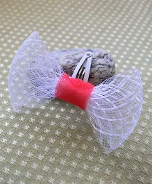 Many Frocks & Transparent Bow Hairclip - Red