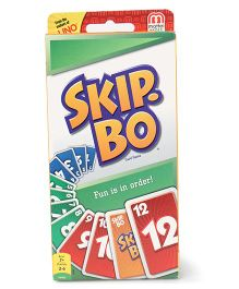 Mattel Skip Bo Card Games - Multi Colour