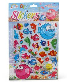 Fish Shape Wall Stickers - Multi Colour