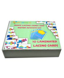 ProjectsforSchool Shape Lacing Cards And Motor Activity Kit - 10 Pieces