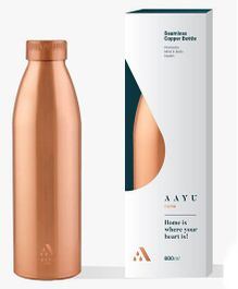 Aayu Home Pure Copper Seamless Bottle - 850 ml
