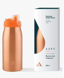 Aayu Junior Pure Copper Seamless Bottle - 650 ml