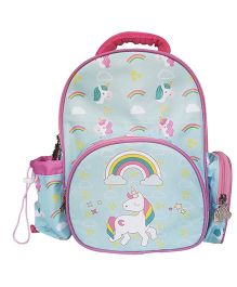 Little Jamun Backpack Unicorn Print Blue Pink - 13 Inches
