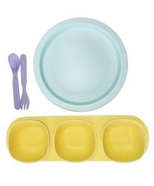 Little Jamun Dinner Set With Bowls & Cutlery - Yellow