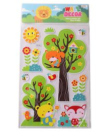Tree & Multi Shape Luminous Frame Sticker - Green