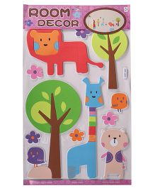 Animals Shape Wall Stickers - Multicolor