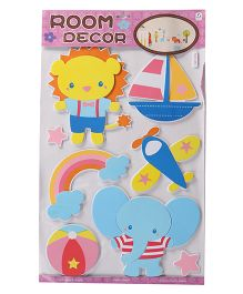 Cartoon Shape Room Decor Sticker - Blue