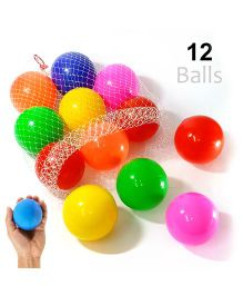 Eevovee Plastic Play Balls Pack of 12 - Multicolour