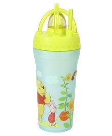 Disney Winnie The Pooh Sipper With Straw Blue Green - 430 ml