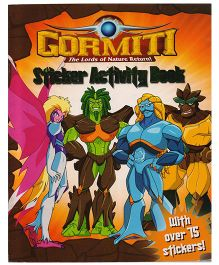 Gormiti The Lords of Nature Return Sticker Activity Book - 75 Stickers