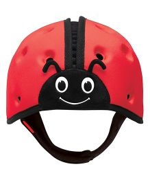 SafeheadBABY Soft Baby Helmet Lady Bird Design - Red