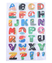 Alphabet Theme Wall Stickers - Multicolour