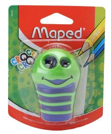 Maped Croc Croc Caterpillar Shape Sharpener - Green