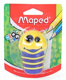 Maped Croc Croc Caterpillar Shape Sharpener - Yellow