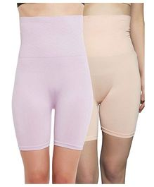 Clovia 4 In 1 Shapers Pack of 2 - Peach Purple