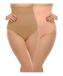 Clovia Tummy Tucker With Silicon Grips - Peach Beige