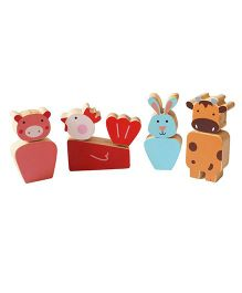 Shumee Farm Animal Twistees Pack of 4 - Multicolour