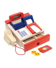 Brainsmith Cash Counter Wooden Toys - Red Cream
