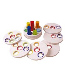 Brainsmith Logic Stacking Wooden Toys - Multi Color